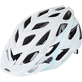 Alpina D-Alto Kask rowerowy, white-blue-silver